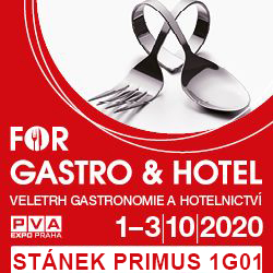 FOR GASTRO AND HOTELS 2020 - 1.-3.10.2020 PRAHA LETŇANY